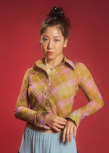 mesh shirts - muscat plaid