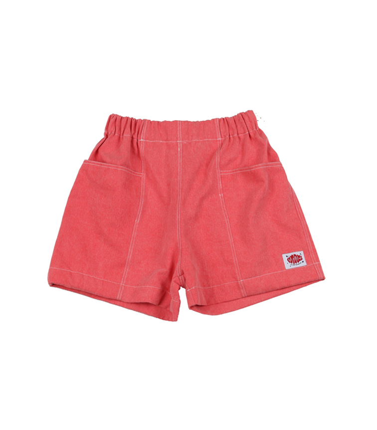 summer wide shorts - coral