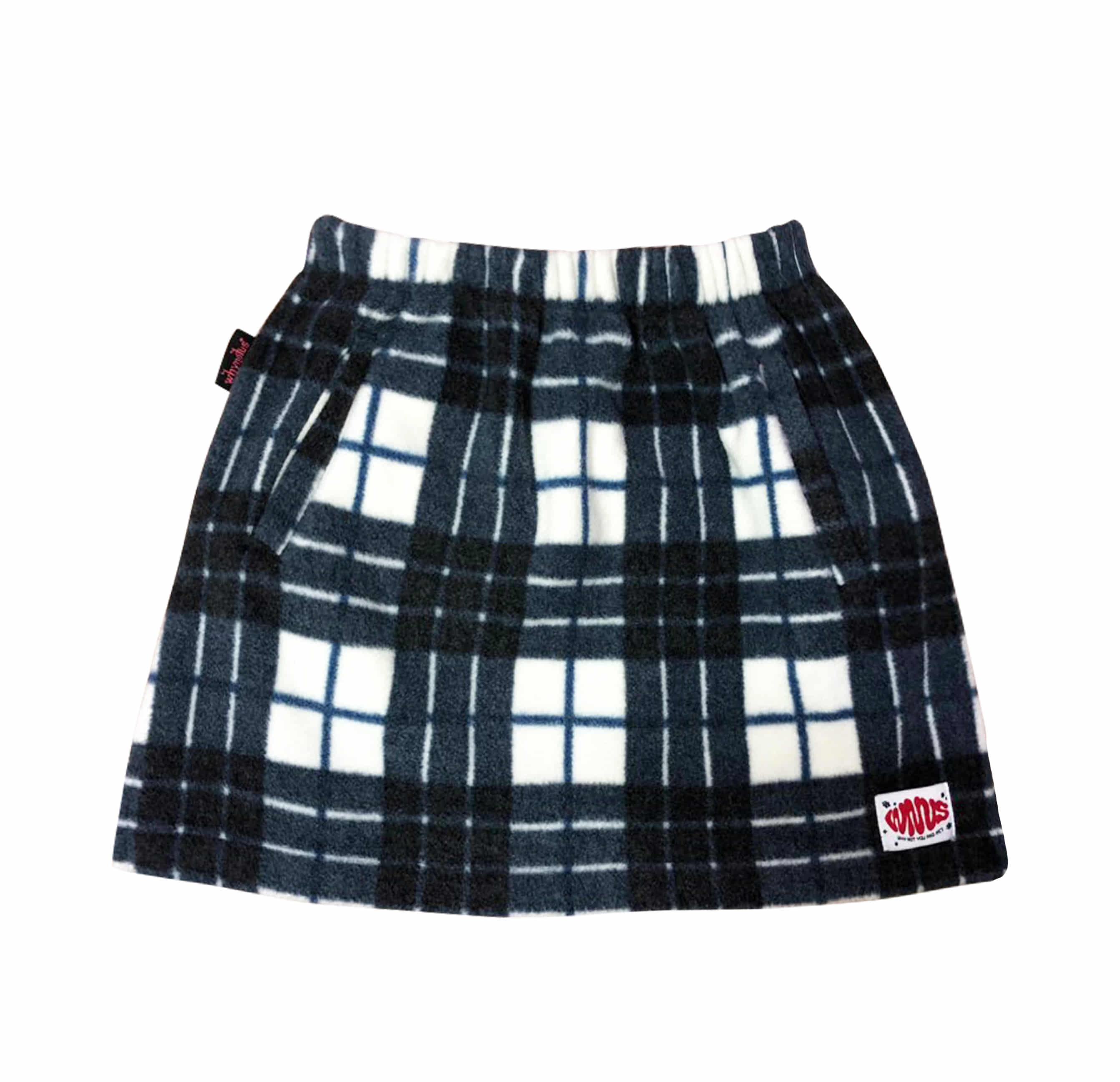 check fleece - skirt