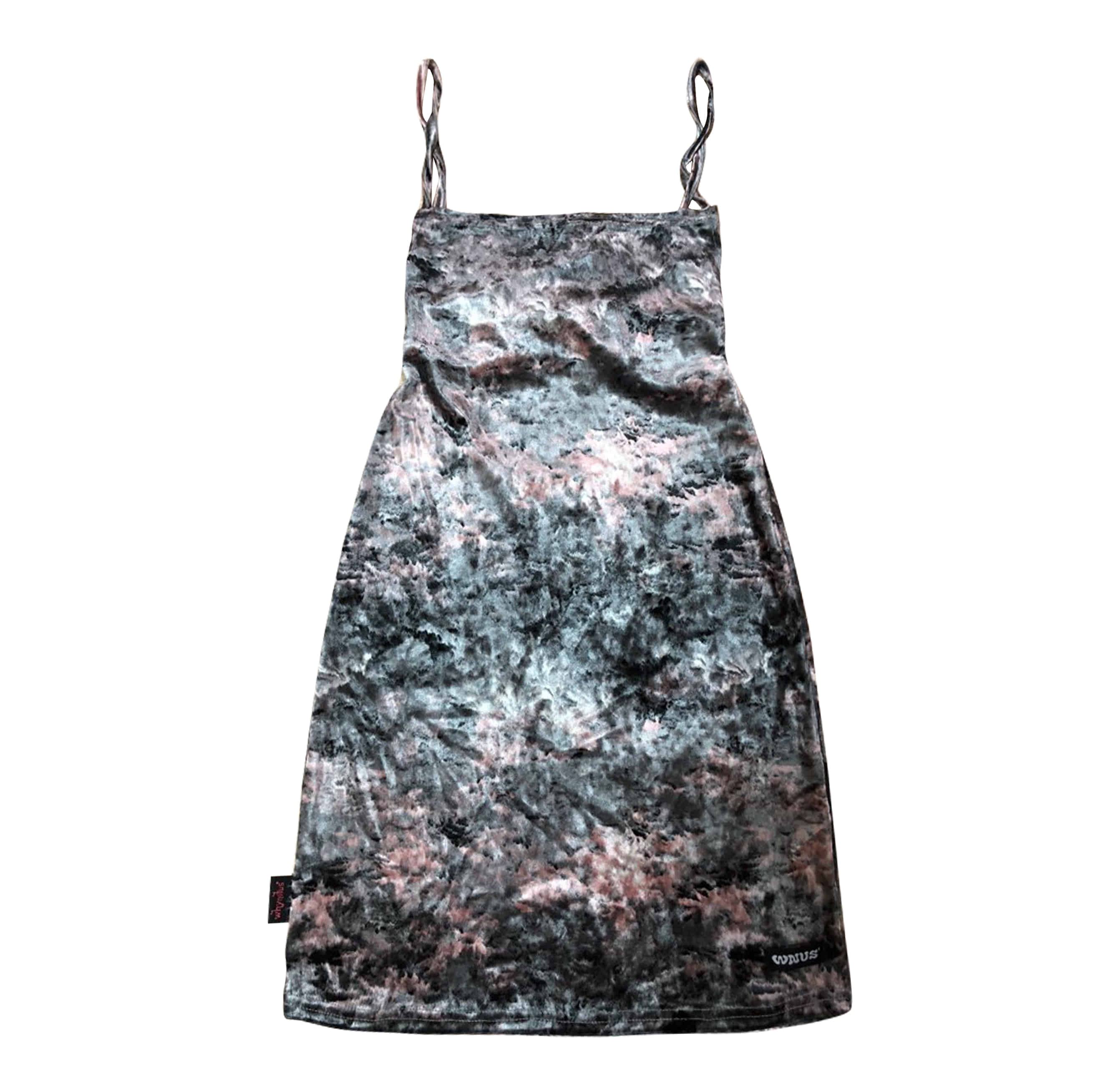 water fall back strap dress