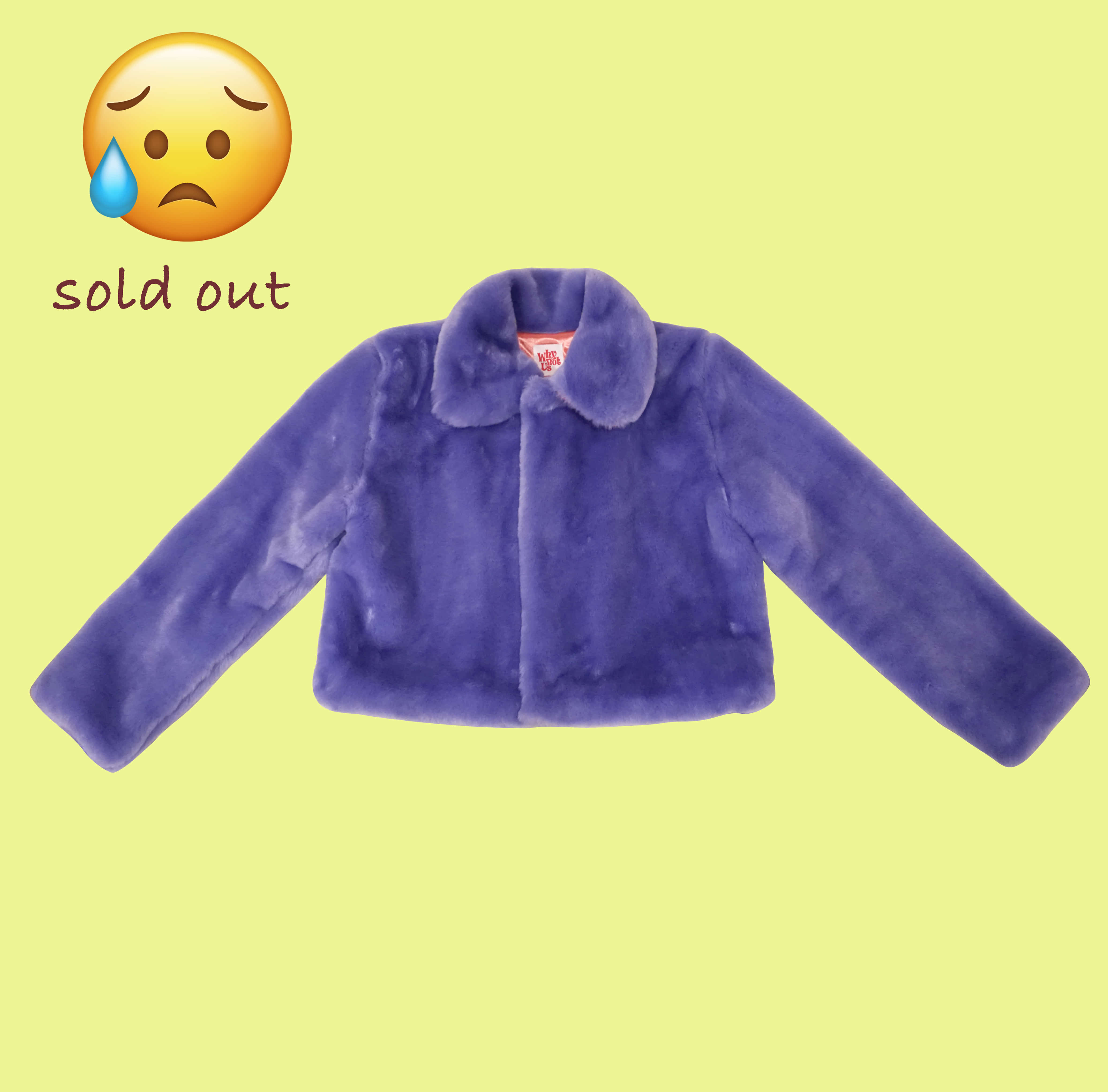 Eco fur jacket - baby violet
