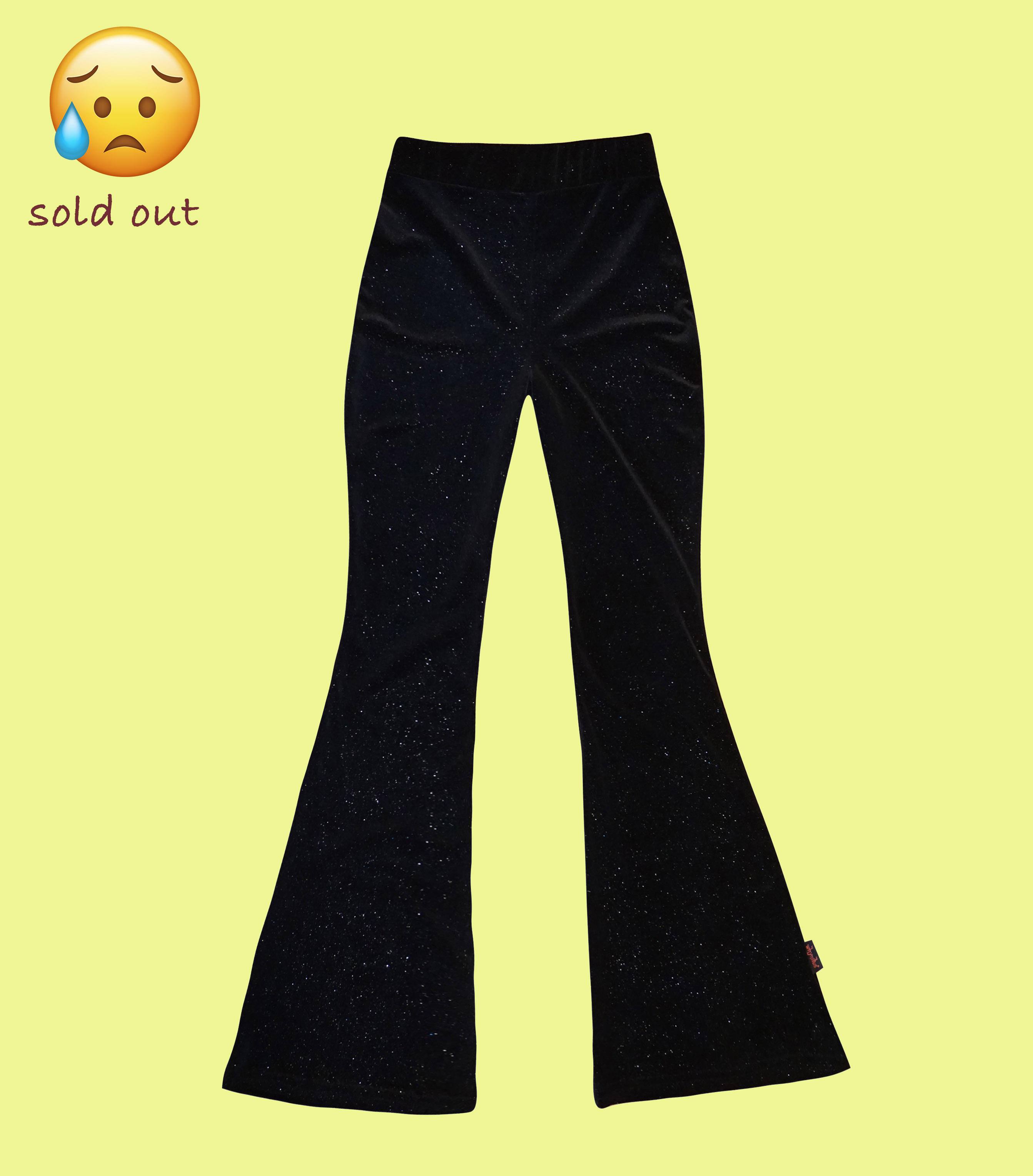 velvet flare pants - sparkly black