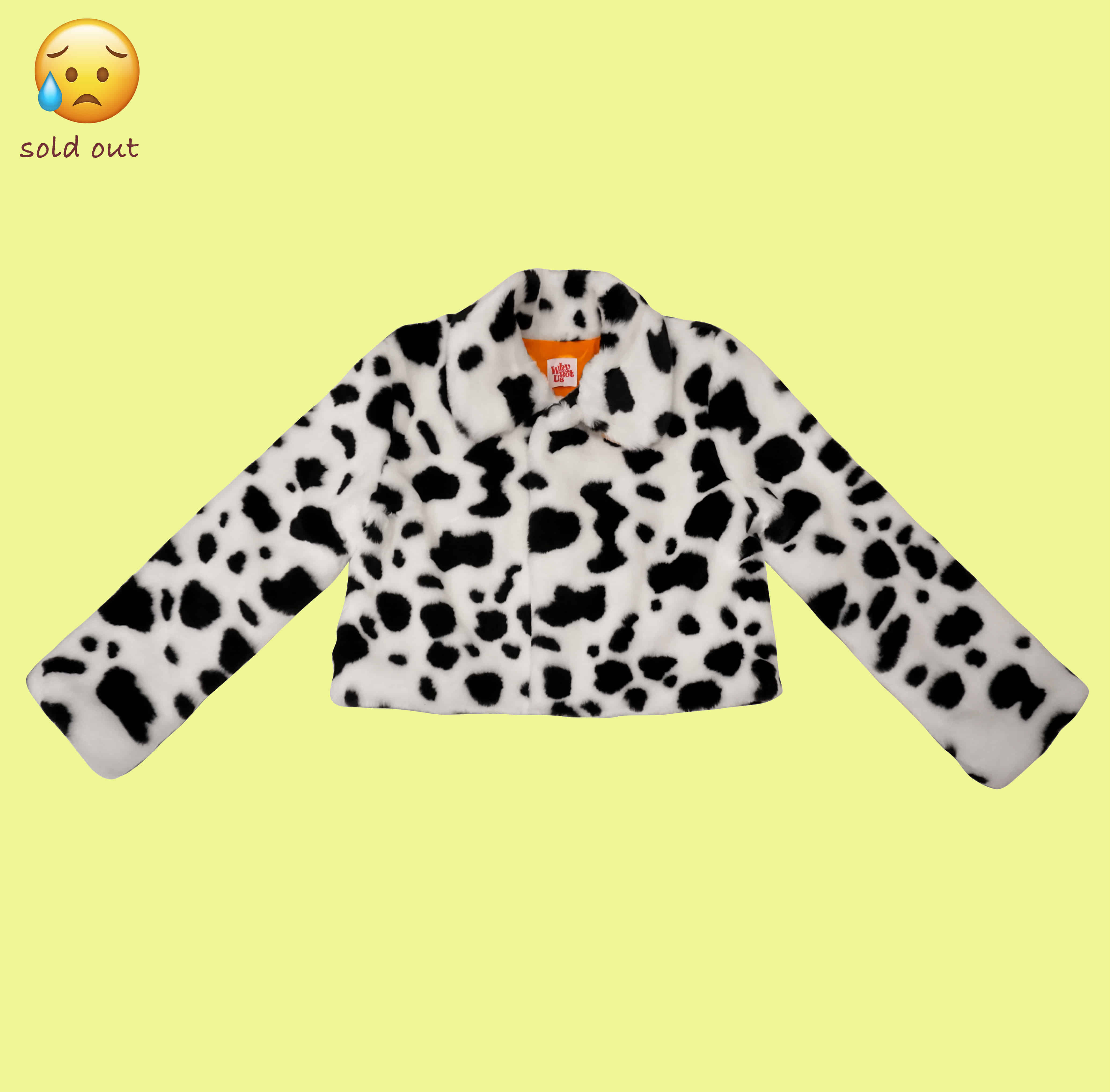 Eco fur jacket - Dalmatian