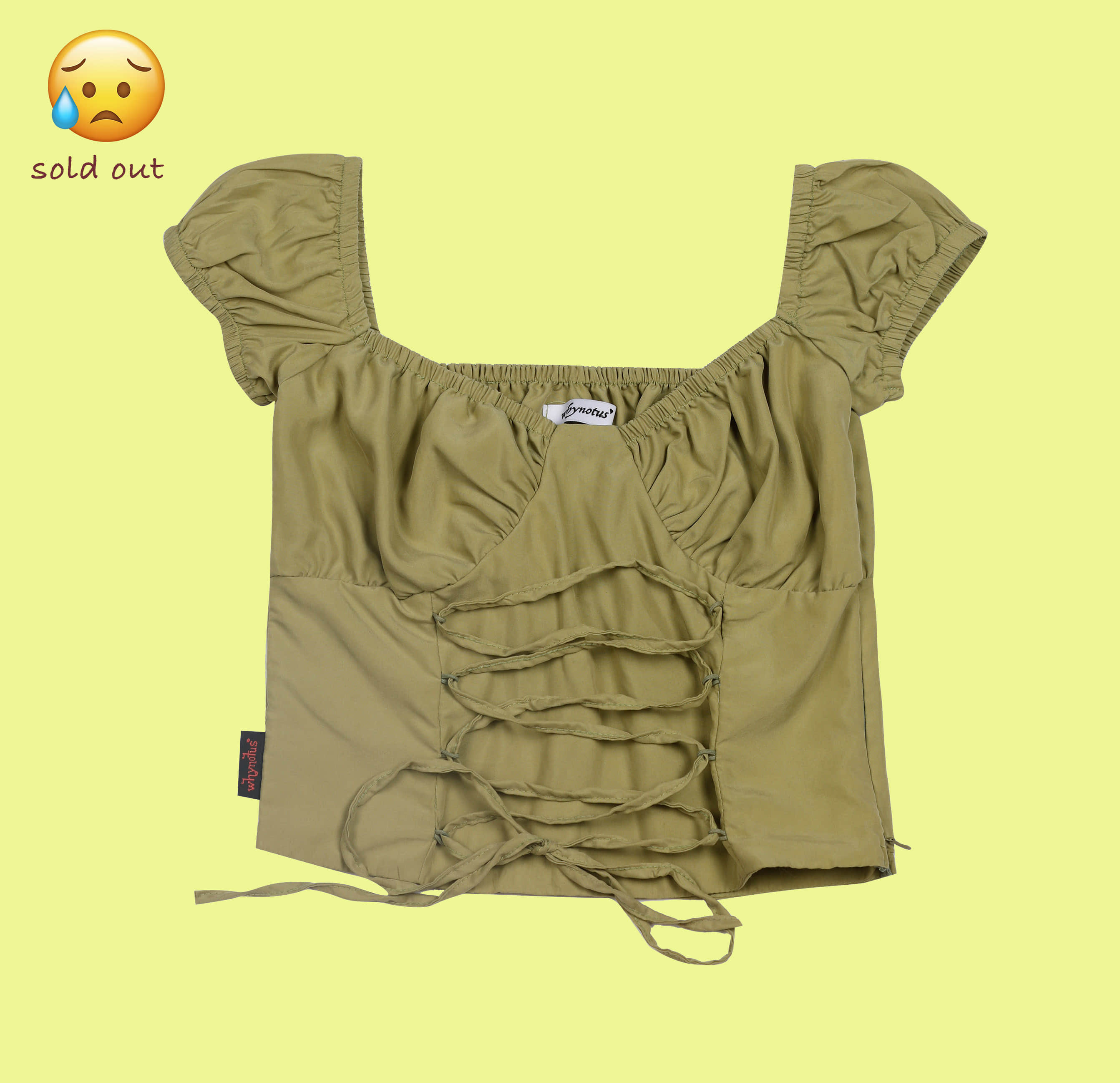shoelace blouse-olive