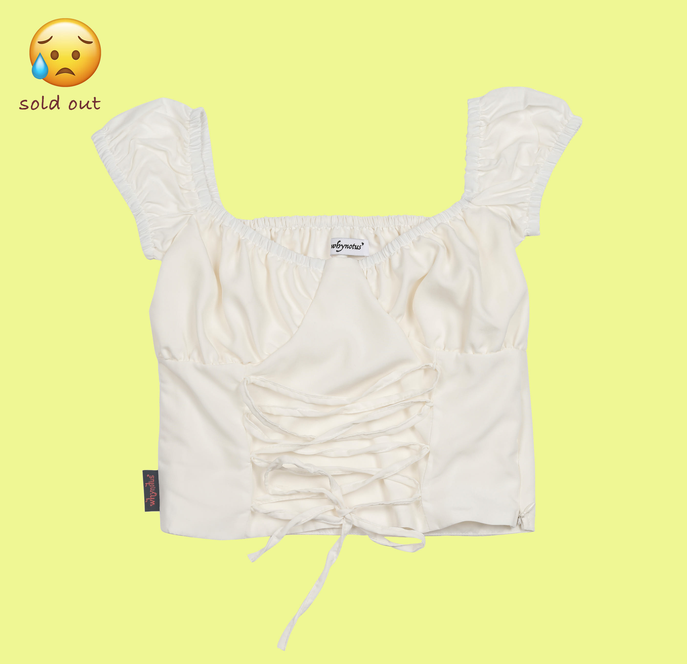 shoelace blouse-off white