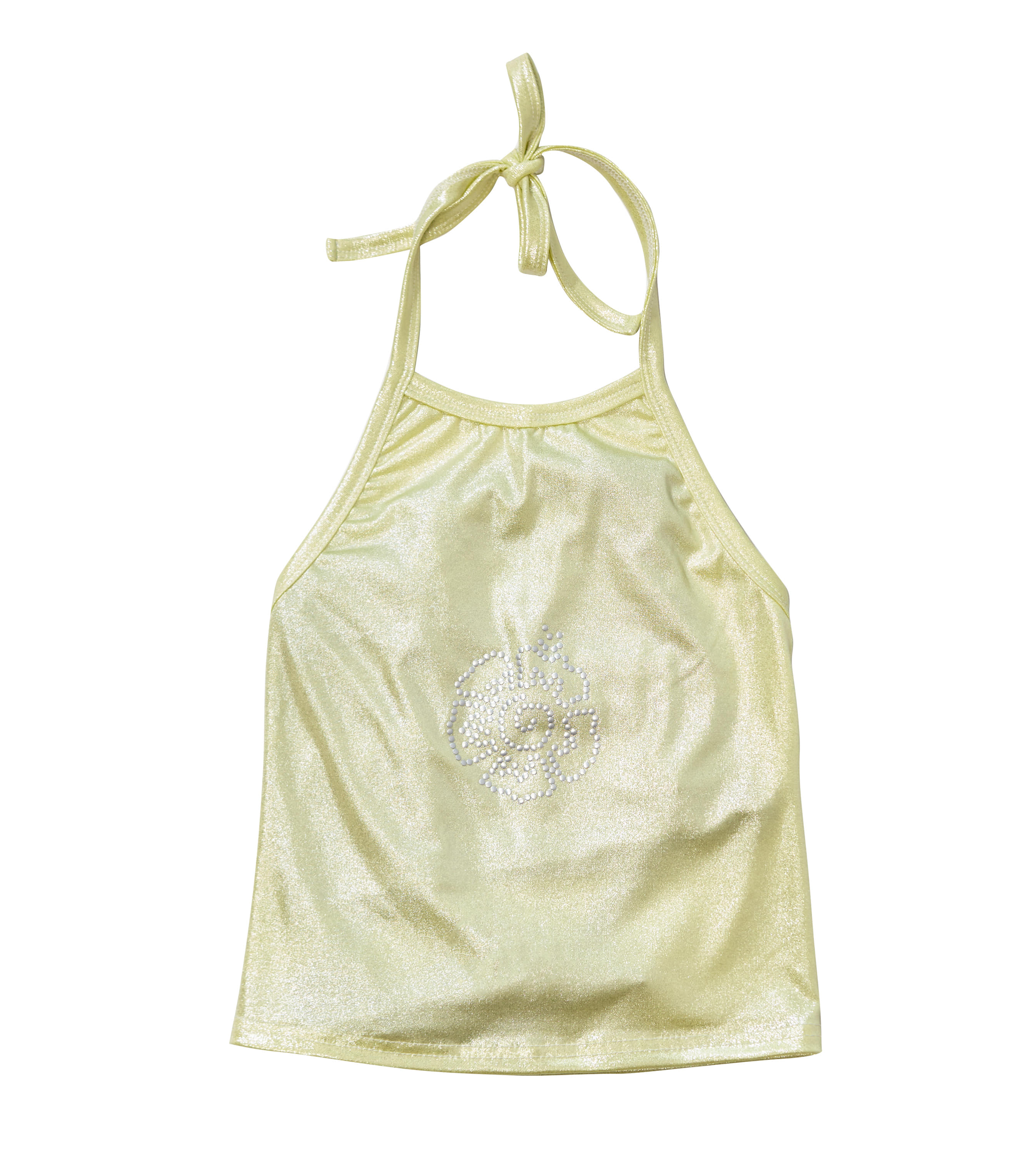 flower halter tank-lemon