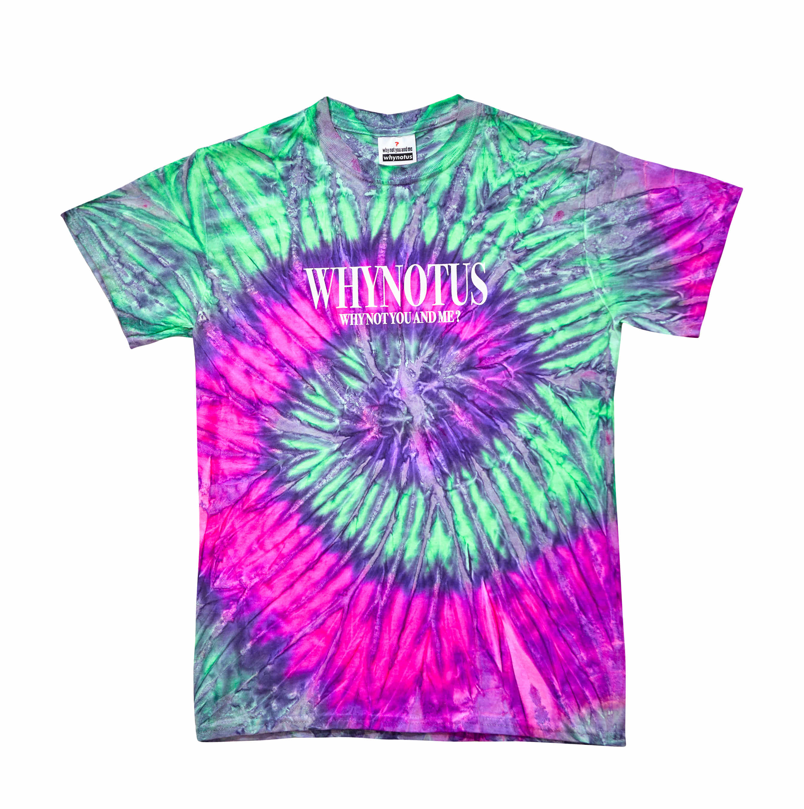 Tie dye T - grape