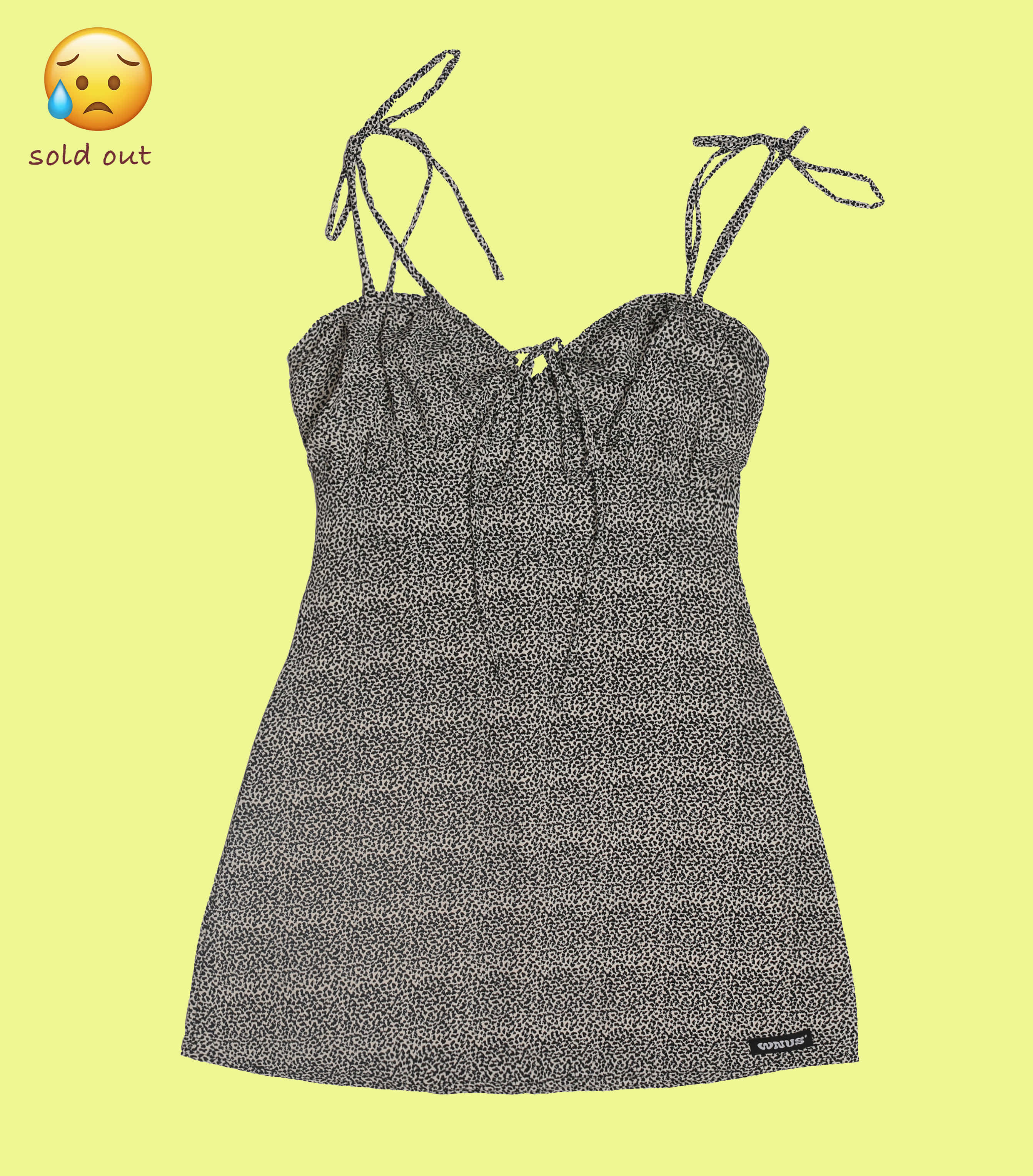 shell ribbon dress-oreo