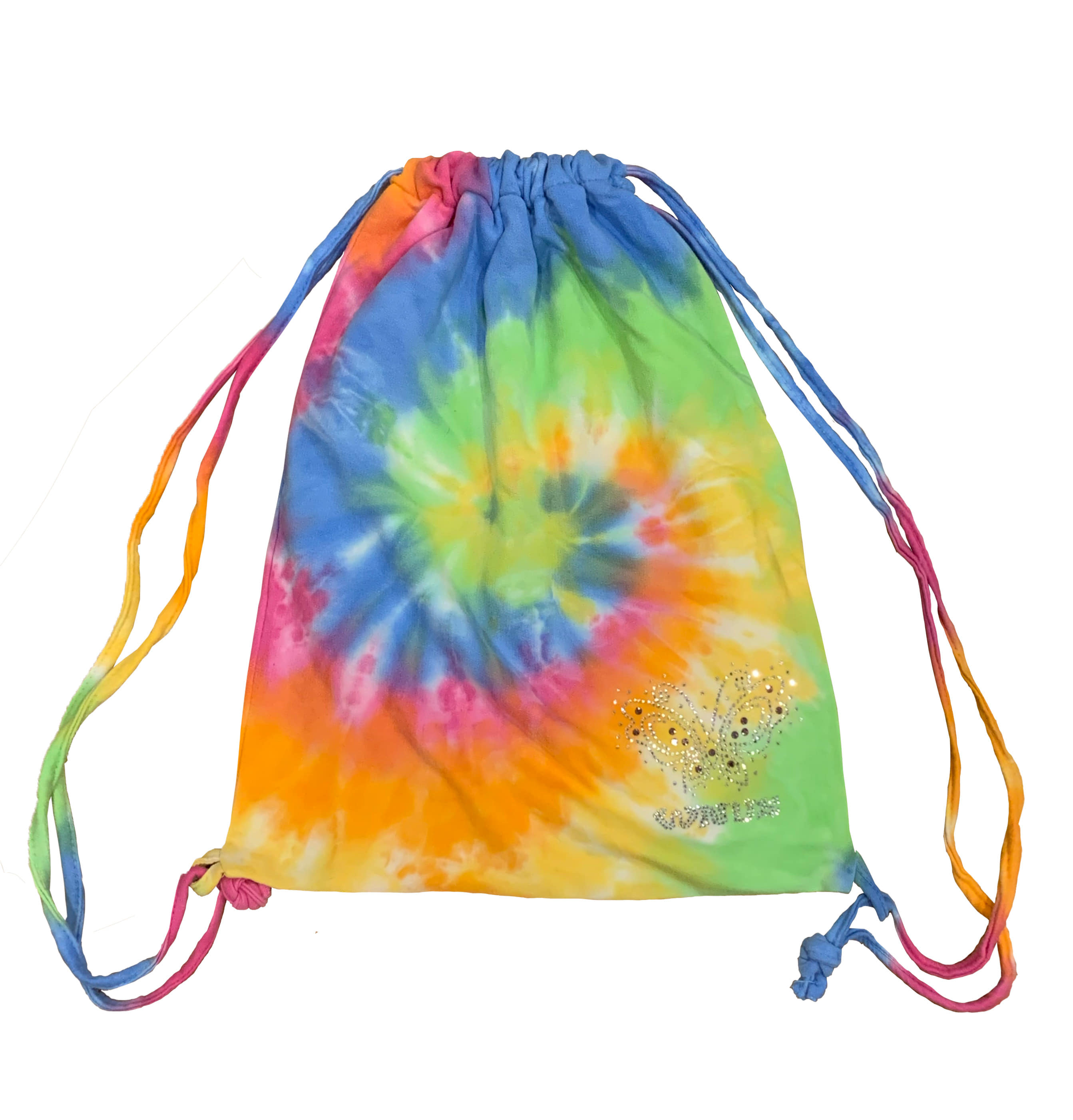 drawstring bag-rainbow