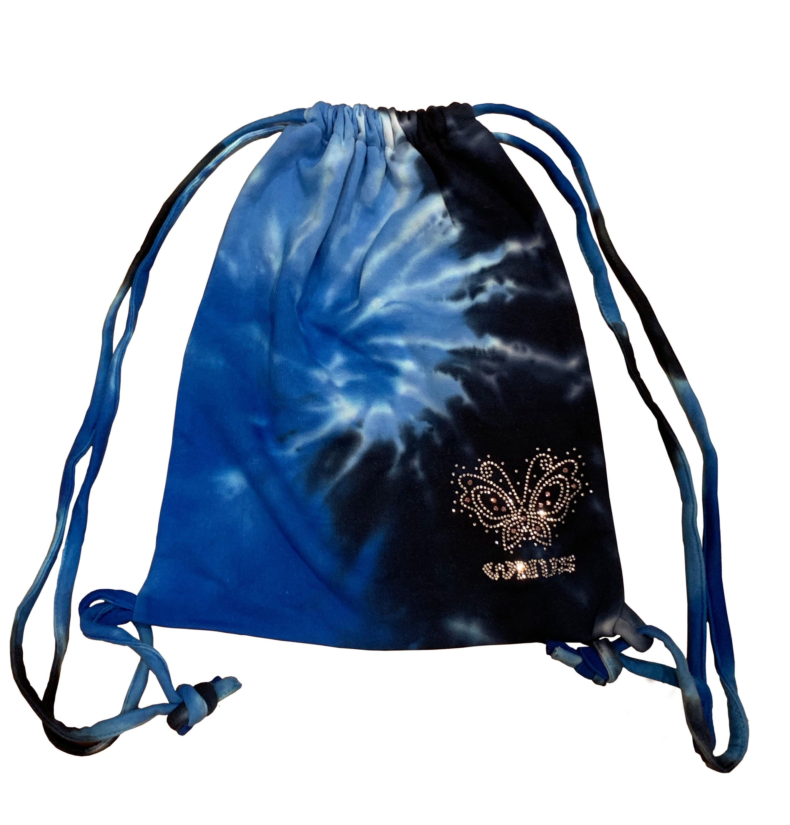 drawstring bag-blue