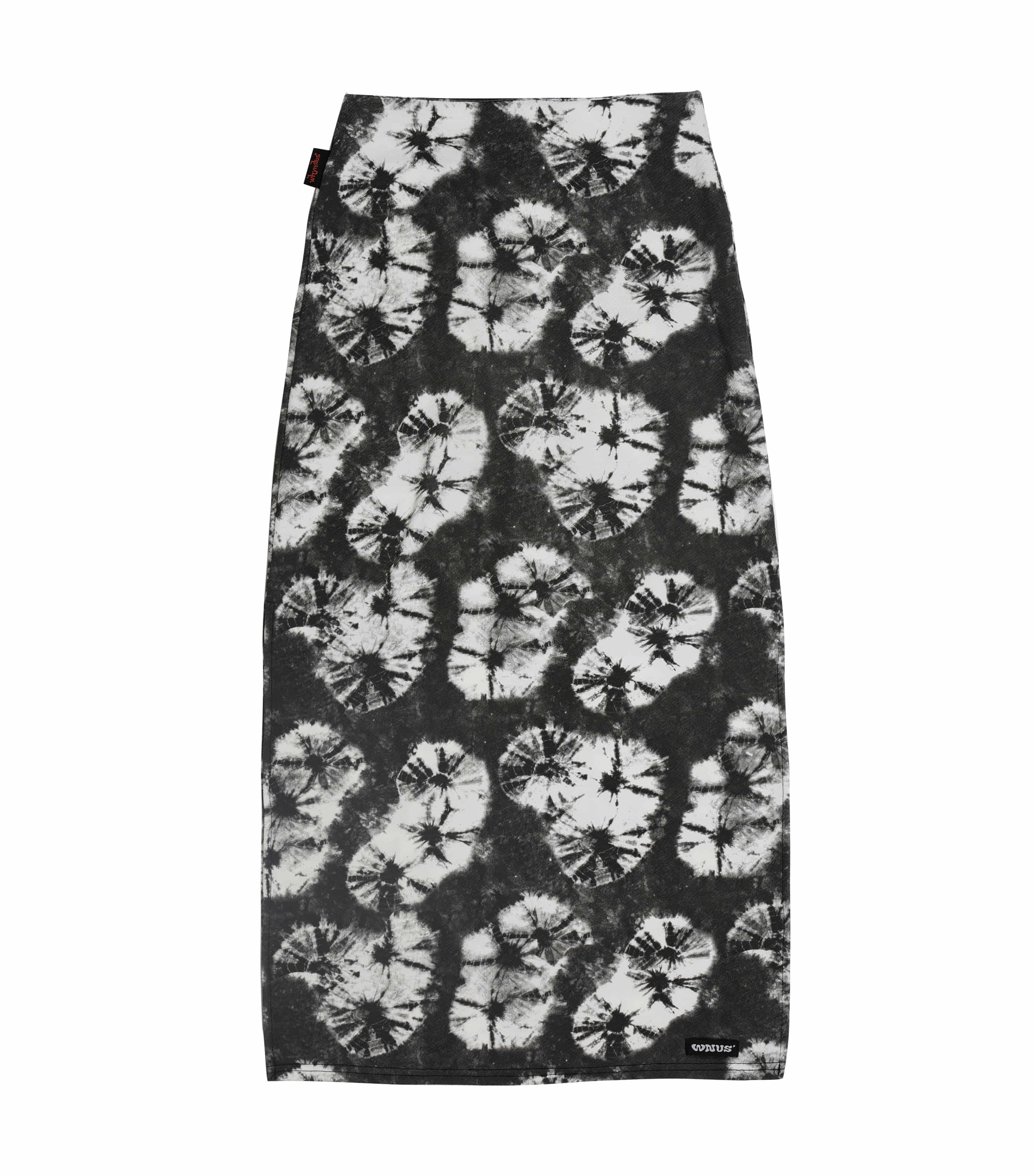 pencil long skirt-black paw
