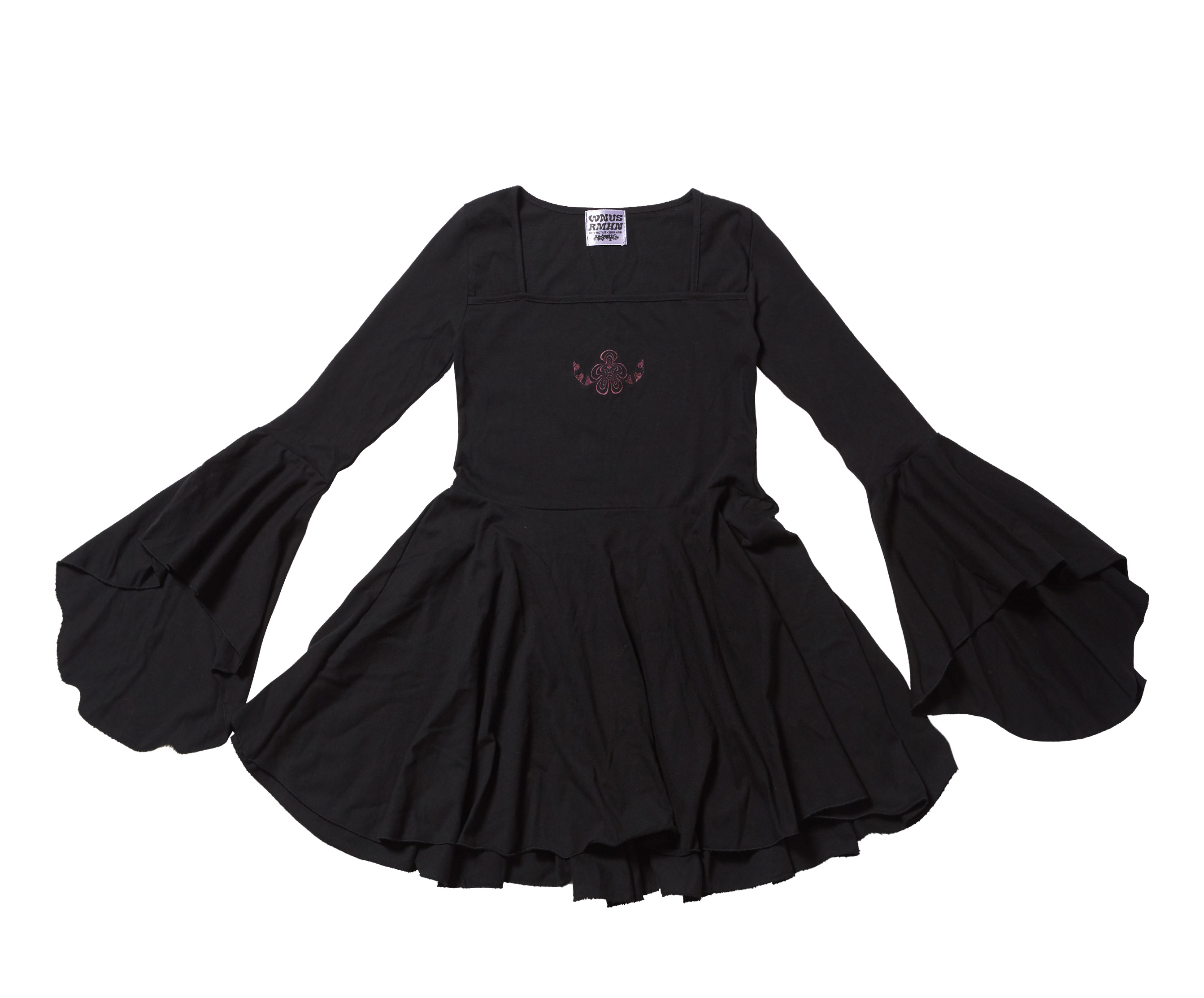 rock chic dress - black
