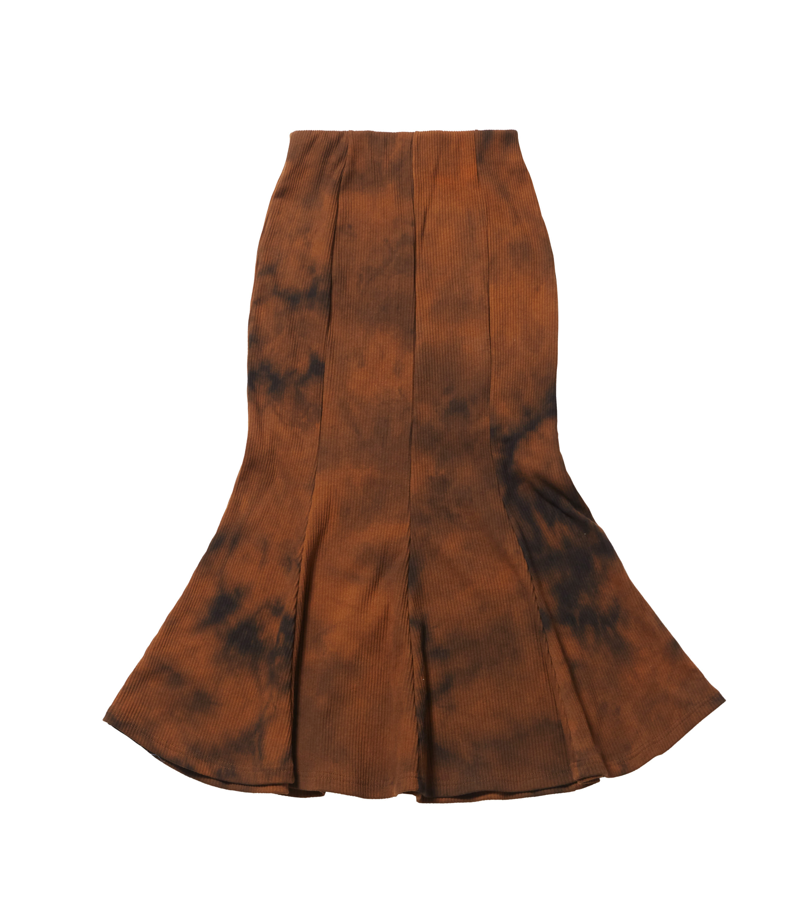 western flare skirt - dyed brown