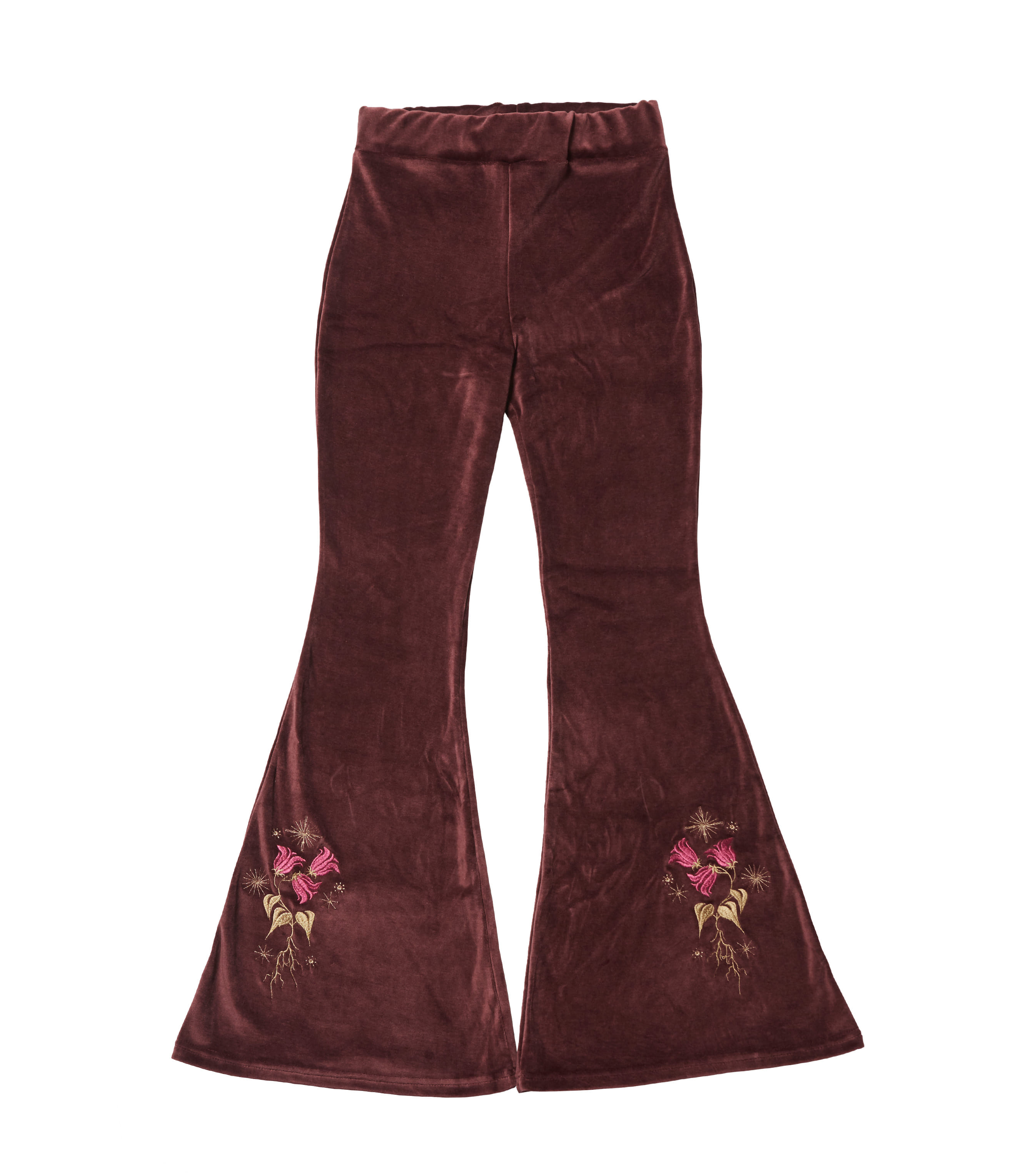 lily of the valley pants - burgundy